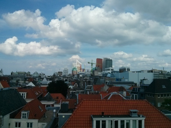 Skyline of the Hague, picture by me, August 2013
