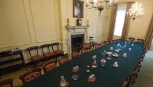 The table where the Cabinet of the UK meets at Downing Street 10