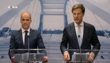 Diederik Samson (left, Labour) and Prime Minister Mark Rutte (right, VVD)