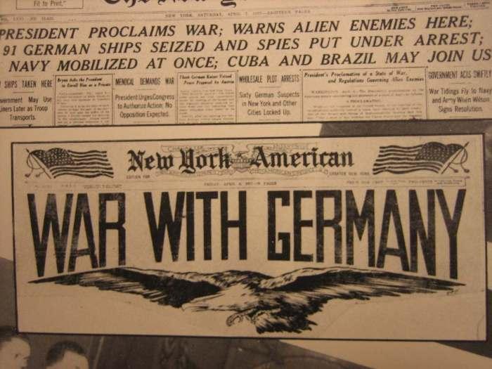 WWI USA War With Germany